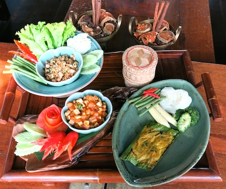 Our lunchtime feast at Four Seasons Resort Chiang Mai.