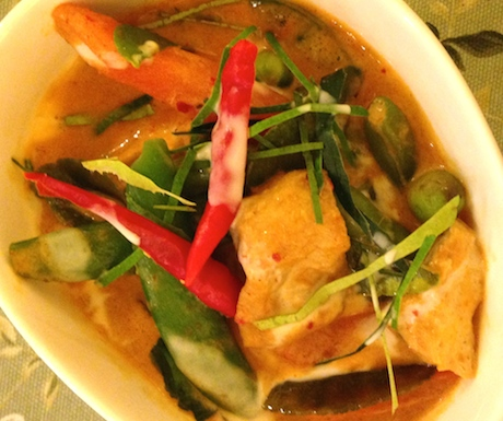 Delicious Penang Curry loaded with tofu for that extra protein hit.