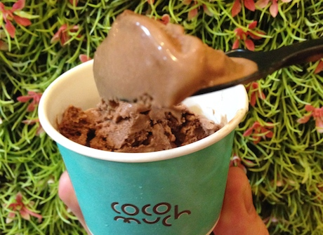 Very good indeed - the chocolate & coconut vegan ice cream.