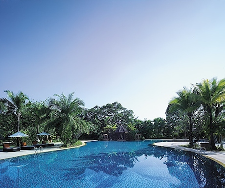 swimming pool at Shangri-La Chiang Mai