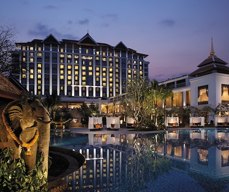 Shangri-La Chiang Mai at night