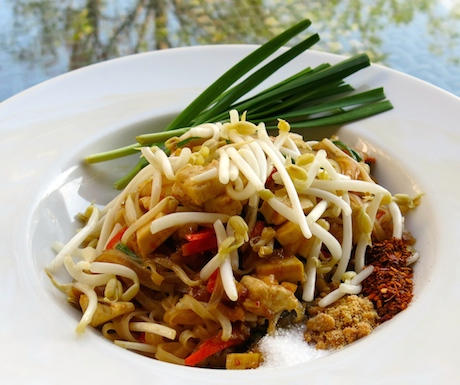 Vegan pad thai at Shangri-La Chiang Ma