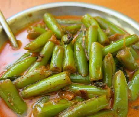 Tasty vegan bean curry.