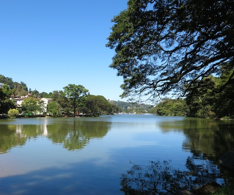 Take a stroll around the peaceful lake at Kandy.