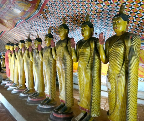 Dambulla and the many Buddha statues.