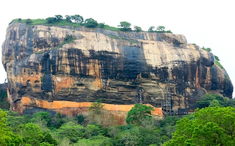 The impressive Sigiriya Rock Fortress.