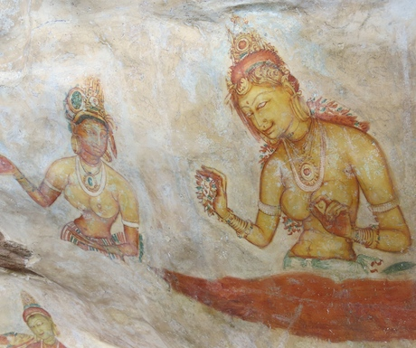 Ancient murals at Sigirya.