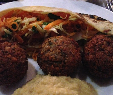 falafels at ina's Vegetarian Restaurant
