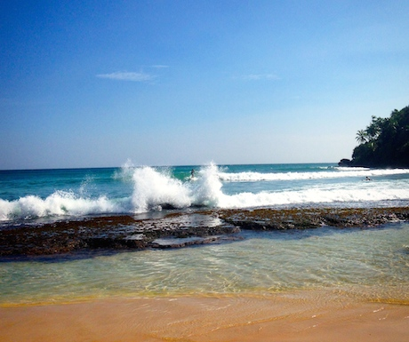 The wild & rugged Mirissa Beach.