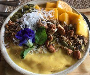 vegan smoothie bowl at Goodsouls Kitchen in Chiang Mai