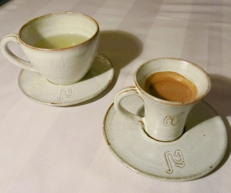 Espresso & green tea.