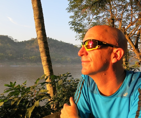 Not a bad place to enjoy sunset over the Mekong.