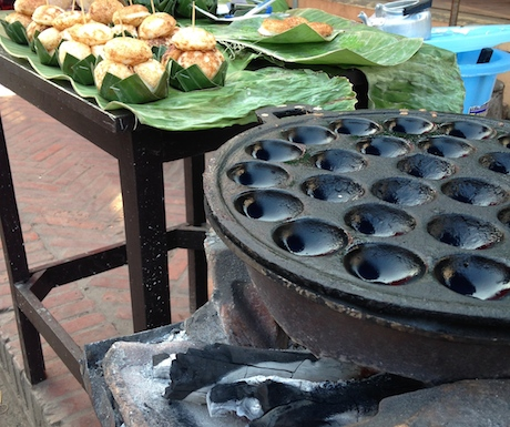 Look out for this special Khanom Krok pan.