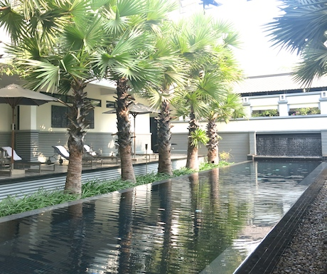 The lap pool at Shinta Mani Club.