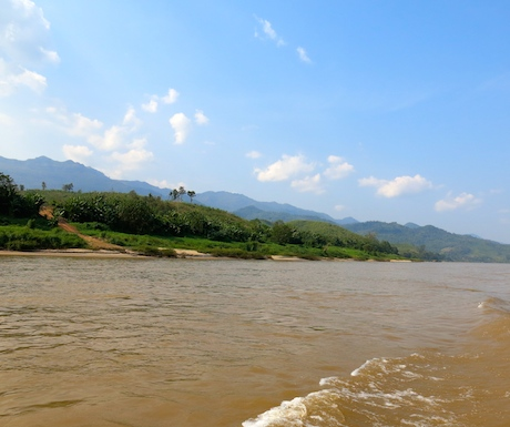 Saying goodbye to Thailand from the mighty Mekong River.