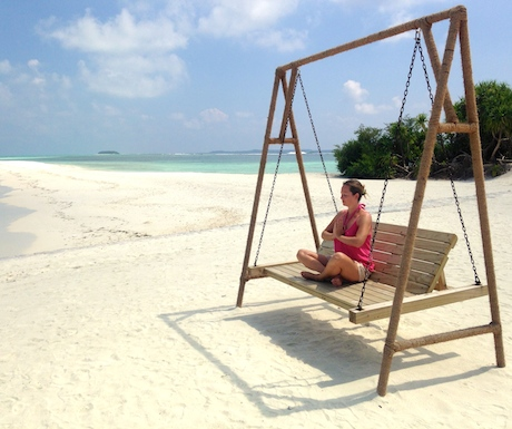 Peaceful, lovely, princess-like meditation in the Maldives is the kind of thing I'm well suited to...