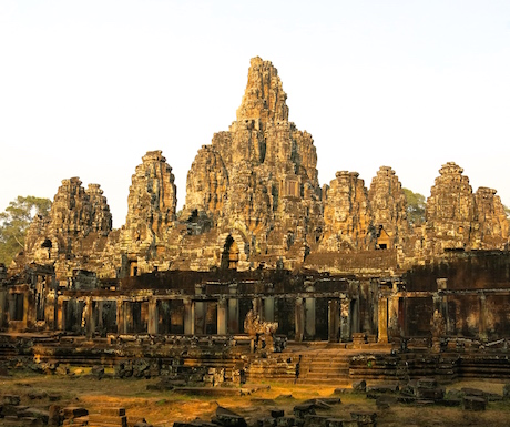 The magnificent (and our favourite temple so far) Angkor Thom.