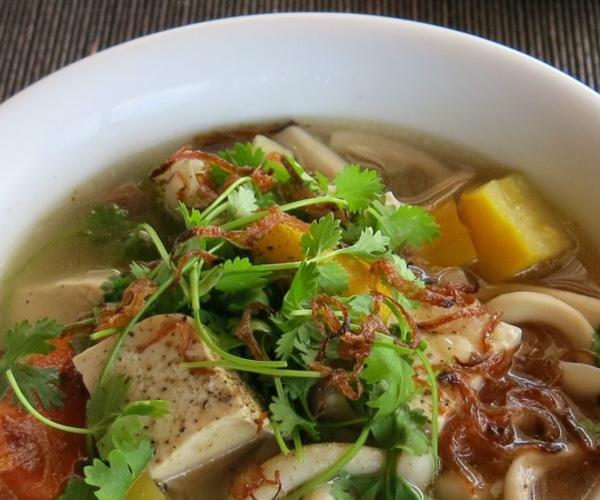 pho served at An Lam Villas in Vietnam