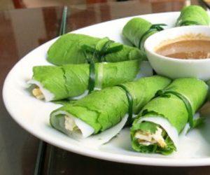fresh vegan spring rolls in Vietnam