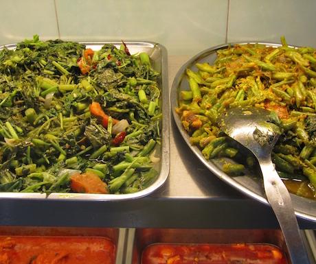 Buddhist vegan buffet in Malaysia