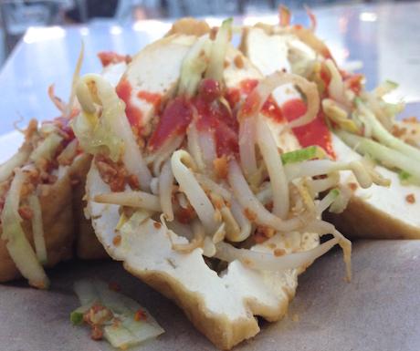 Tahu sumbat, or stuffed tofu in Malaysia