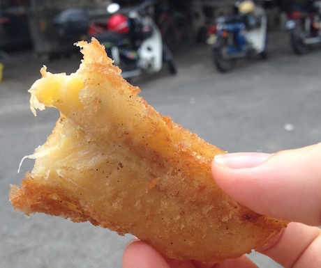 deep fried banana fritters