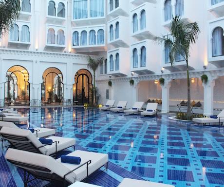 swimming pool at Sarai Resort