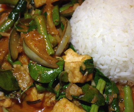vegan Thai curries in Laos