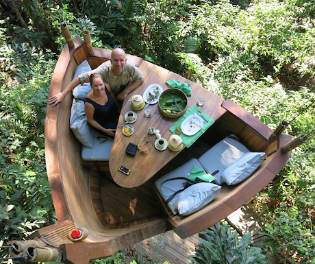vegan High Tea in The Treepod at Soneva Kiri