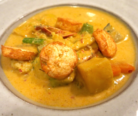 tofu curry at Sarai Resort