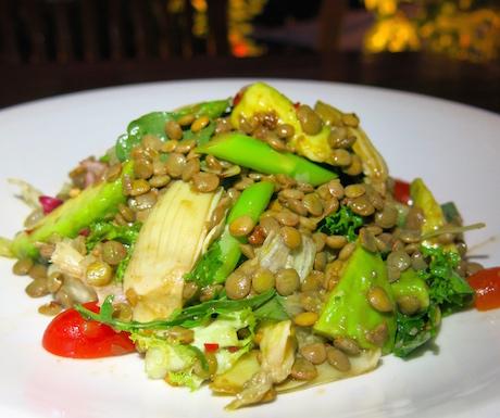 tasty vegan lentil dish at Victoria Angkor Resort