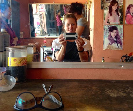 We get our hair cut in the local 'salon' for $1 (well, one of us does anyway...)