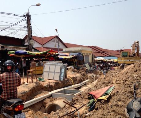 Roadworks Siem Reap style.