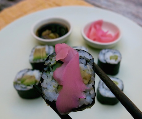 vegan sushi at Soneva Kiri