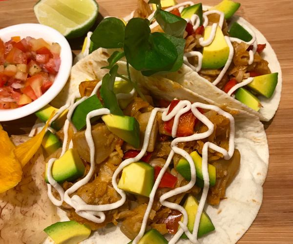 Artillery vegan tacos