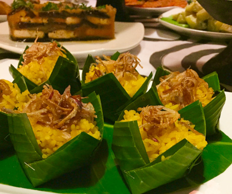 Vegan feast at Bambu Stage, vegan guide to Siem Reap