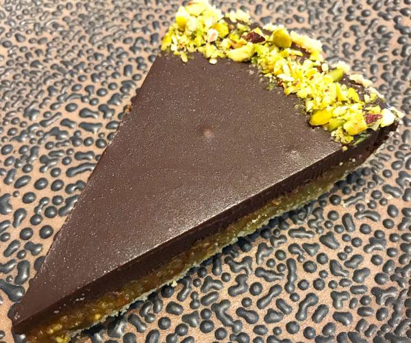 Bang Bang vegan pistachio tart