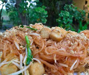 vegan pad Thai at Centara Trat