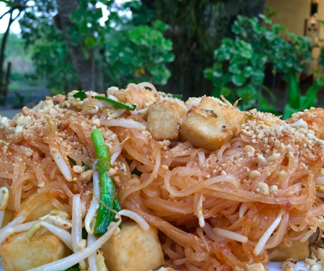 vegan pad Thai at Centara Trat