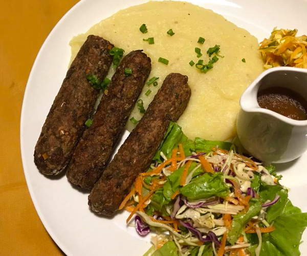 Georges vegan sausages