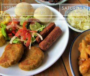 vegan BBQ at Hangout in Siem Reap