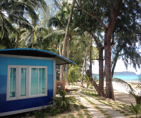 shipping container rooms at Seafar Resort Koh Kood