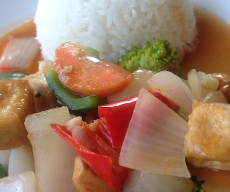 Tofu Vegetable and Cashew Nuts at My Little Cafe in Siem Reap
