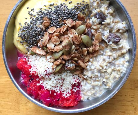 overnight oats at Vegan Villa in Siem Reap