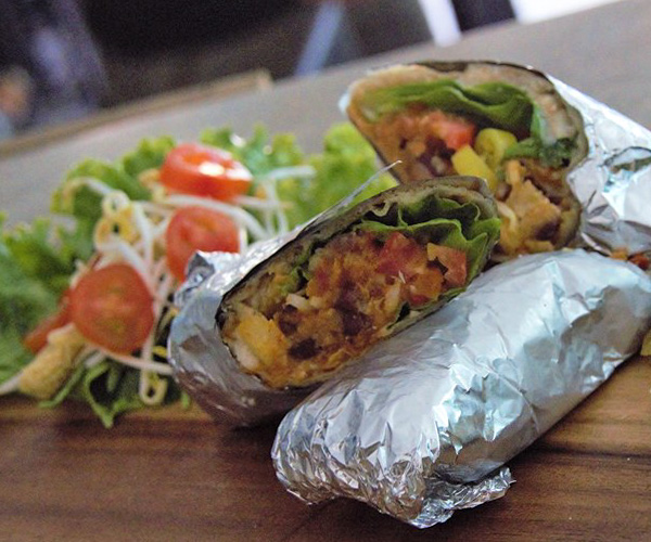 Vegan Burrito at Green Go Siem Reap