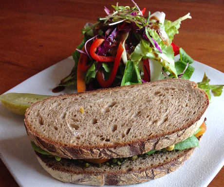 vegan sandwich at Vibe in Siem Reap