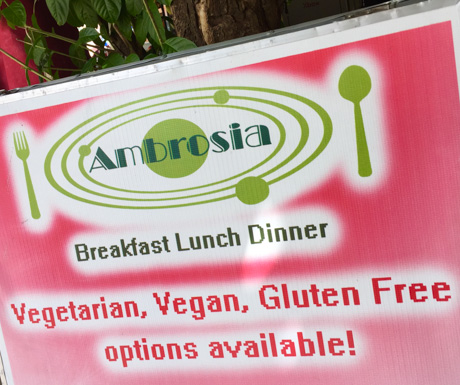 Ambrosia, Battambang, vegan food, vegan restaurant, Cambodia, vegan travel