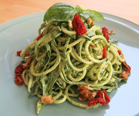 Zucchini pasta at Artillery in Siem Reap