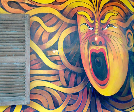 Jaan Bai continues the art theme in Battambang with it's own murals.