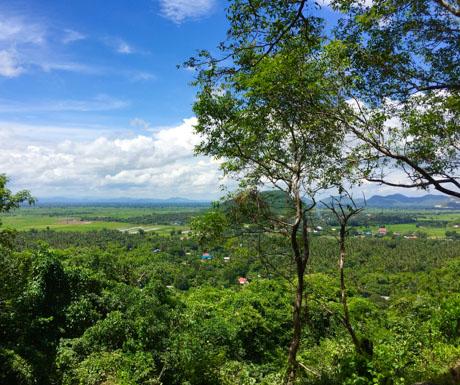 view, Phnom Sampeau, Battambang, Cambodia